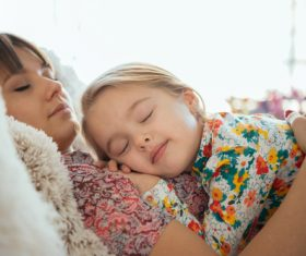Young mother and daughter Stock Photo 04