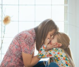 Young mother and daughter Stock Photo 06
