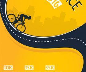bicycle race event flyer with poster vector template 01