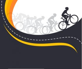 bicycle race event flyer with poster vector template 02
