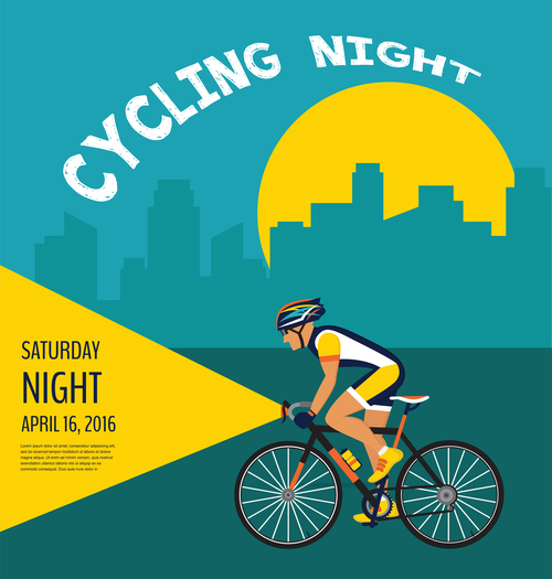 bicycle race event flyer with poster vector template 03