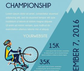 bicycle race event flyer with poster vector template 04