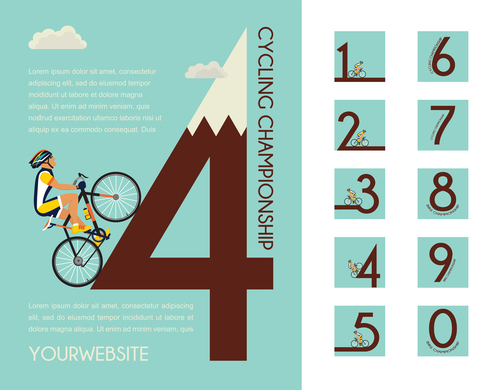 bicycle race event flyer with poster vector template 06