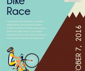 bicycle race event flyer with poster vector template 07