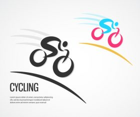bicycle sport logos vector set 04