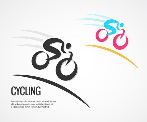 bicycle sport logos vector set 04