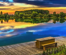 fascinating scenery of lakes Stock Photo 02