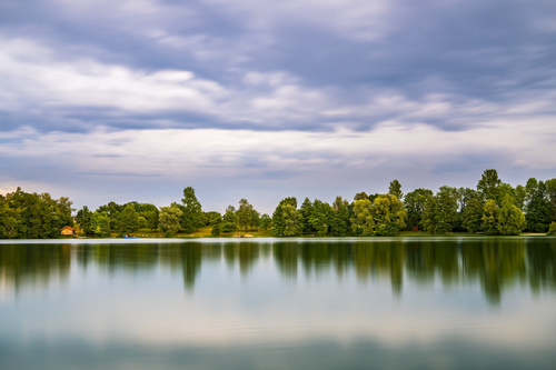 fascinating scenery of lakes Stock Photo 04