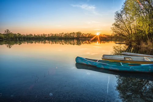 fascinating scenery of lakes Stock Photo 05