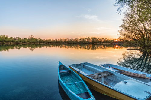 fascinating scenery of lakes Stock Photo 06