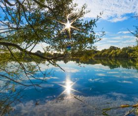 fascinating scenery of lakes Stock Photo 08