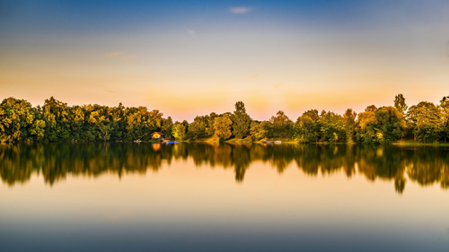 fascinating scenery of lakes Stock Photo 11