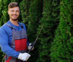 gardener garden landscaping Stock Photo 09