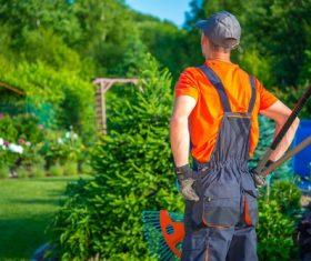 gardener garden landscaping Stock Photo 11