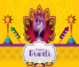happy diwali holiday ceremony design vector 05
