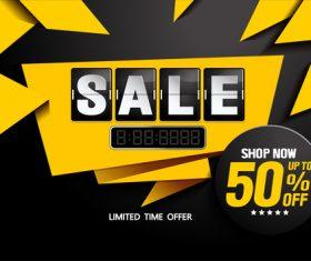 horizontal sale poster template vector