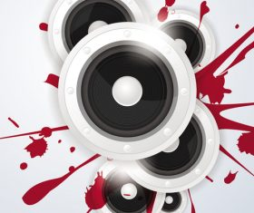 horn with red paint music vector