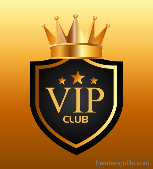 luxury VIP club golden labels vector 01