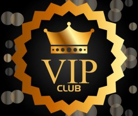 luxury VIP club golden labels vector 02