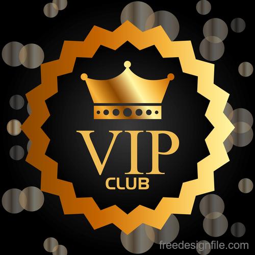 luxury VIP club golden labels vector 02