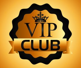 luxury VIP club golden labels vector 03