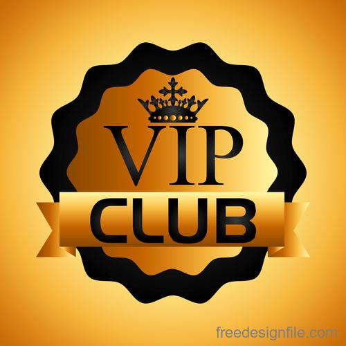 luxury VIP club golden labels vector 03
