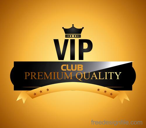 luxury VIP club golden labels vector 04