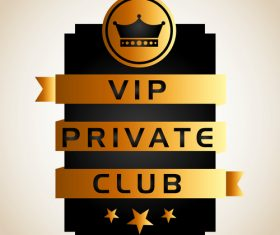 luxury VIP club golden labels vector 05