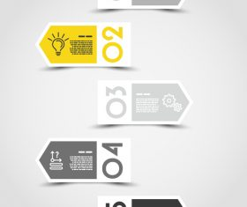 yellow infographic arrows vector