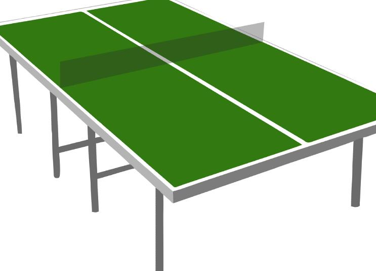 Table tennis table vector