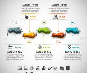 3D Footprint business infographic vector 01