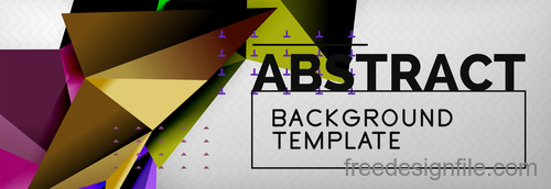 3D Polygon abstract background template vector 08