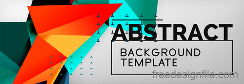 3D Polygon abstract background template vector 09