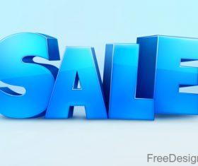 3D sale text design vector