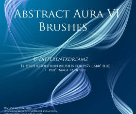 Abstract Aura VI Photoshop Brushes