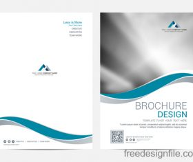 Abstract wavy brochure cover vector template 01