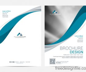 Abstract wavy brochure cover vector template 02