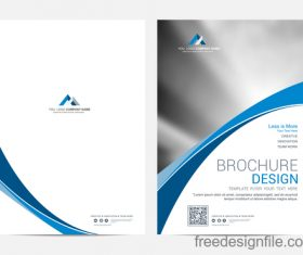 Abstract wavy brochure cover vector template 03