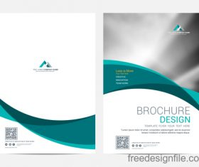 Abstract wavy brochure cover vector template 04