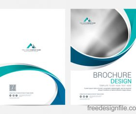 Abstract wavy brochure cover vector template 07