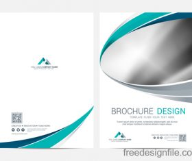 Abstract wavy brochure cover vector template 08