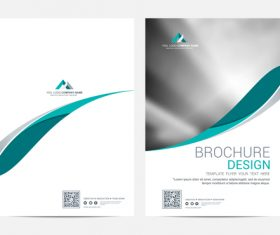 Abstract wavy styles brochure cover vector 01