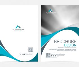 Abstract wavy styles brochure cover vector 02