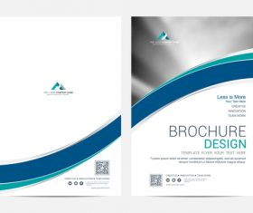 Abstract wavy styles brochure cover vector 03