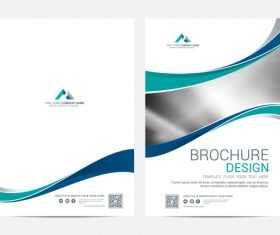 Abstract wavy styles brochure cover vector 05
