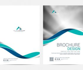 Abstract wavy styles brochure cover vector 06