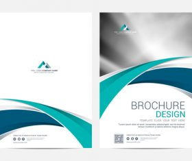 Abstract wavy styles brochure cover vector 07