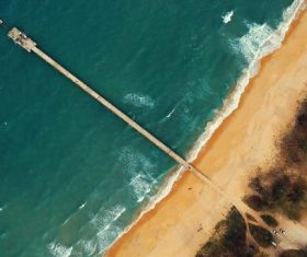 Aerial view of the sea trestle beach Stock Photo