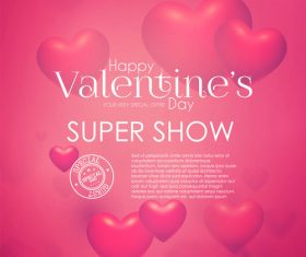 Air heart with valentines day special offer background vector