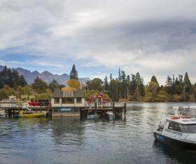 Autumn scenery of Queenstown New Zealand Stock Photo 02